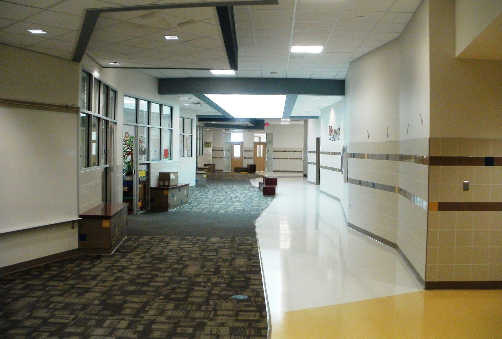 Hallway at Ridgeview ES