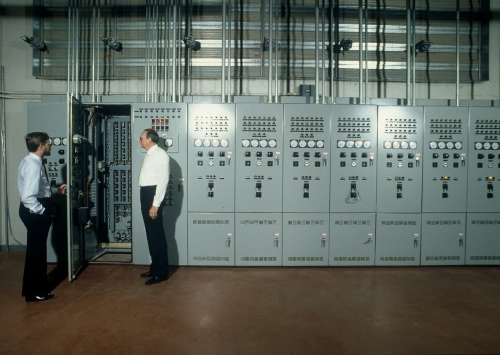 RWB's founders inspect an electrical room
