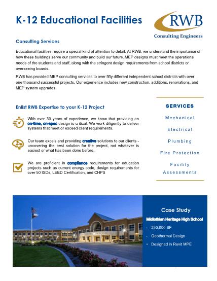 Preview image of RWB K-12 Brochure