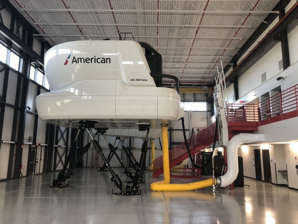 Flight Simulator - American Airlines Flight Training Academy A320 Simulator in AA Flight Training Academy - MEP Aviation Project