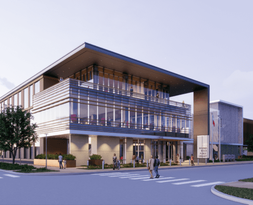 Rendering of the Round Rock Public Library