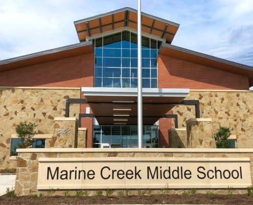 Marine Creek Middle School - Building Exterior Front