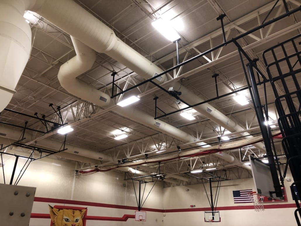 Lake Highlands High School Ductwork in Gymnasium