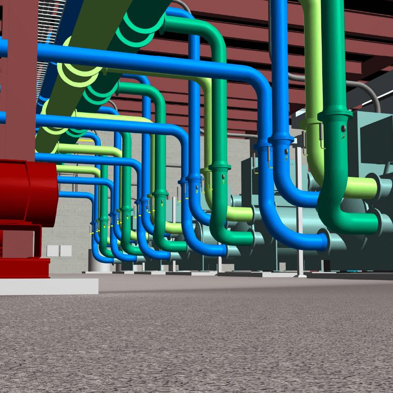Revit BIM Model of a Central Utility Plant