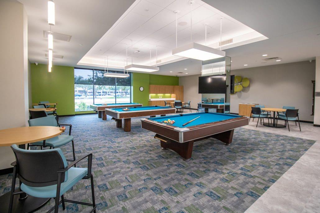 Richardson Senior Center Billiards space